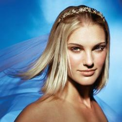 medium straight wedding hair with tiara and veil.jpg