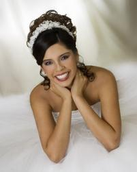 curly wedding hairstyles with floral head band.jpg