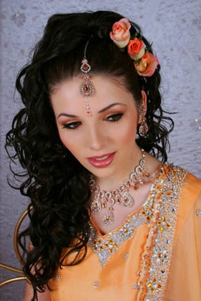 Beautiful Wedding Hairstyles on Beautiful Indian Bride Hairstyle Jpg