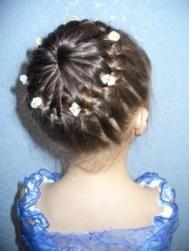 Flower Girl Wedding Hairstyle on Updo Hairstyel For Flower Girl Jpg