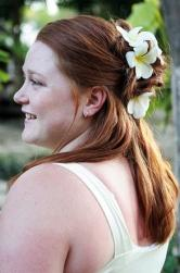 Casual wedding half Updo with Flowers.jpg