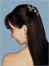 straight bridal half updo with wedding hair clips.jpg