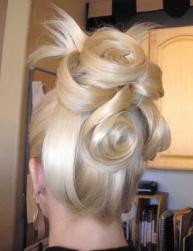 bride updo with big rolls