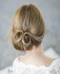 2012 trendy wedding hairstyle with looped bun_Gorgeous Wedding Updo Ideas