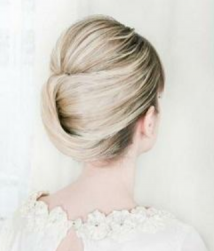 Always in style wedding updo with folded bun_classic elgant bride updo ideas
