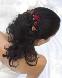 curly half updo wedding hair with red roses.jpg
