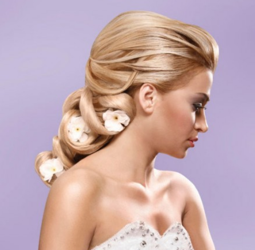 Wedding beach hair updos with fresh white flowers.PNG