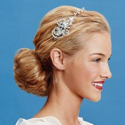 classic with trend wedding hairstyle with crystal head band.jpg