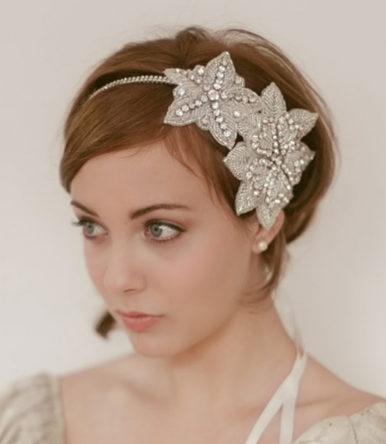 Wedding Hairstyle With Headband: Memorable Wedding: Headpiece Styles For Short Hair