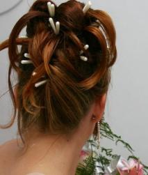 wedding hairstyle with Twists Updo with Long White Pins.jpg