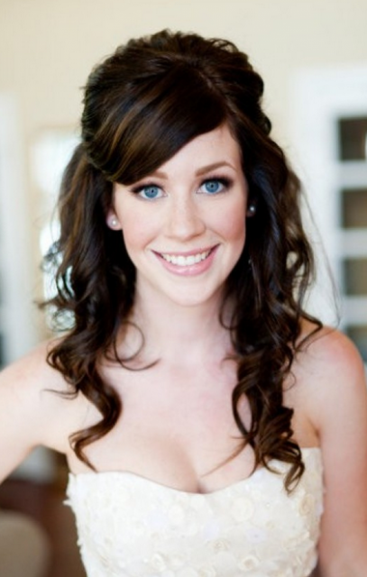 Simple sexy bridal updo with curls and straight hair swept bang.PNG