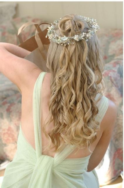 Image of wedding hairstyle down