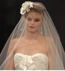 2009 bride hairstyle with rose hair clip and veil.jpg