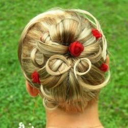summer bridal updo with red roses hairclilps.jpg