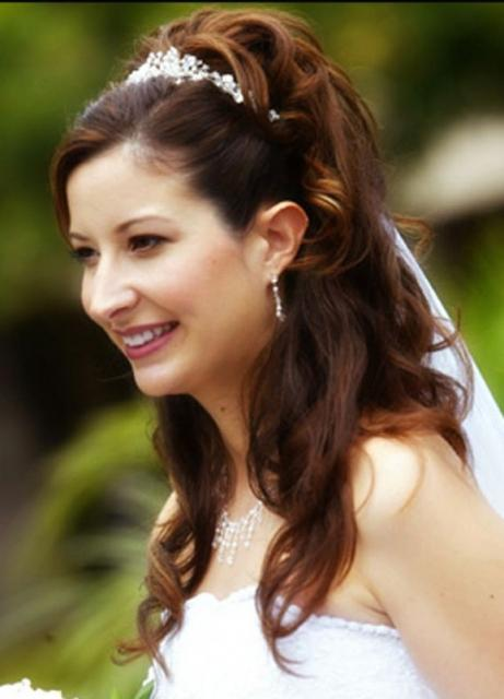 Picture of Wedding Hairstyles For Long Hair Down