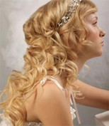 mermaidcurls wedding hairstyle