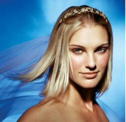 down short wedding hairstyle with terria with veil pict.jpg
