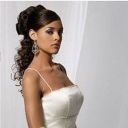 bride hairstyle with long curly half updo with rolls.jpg