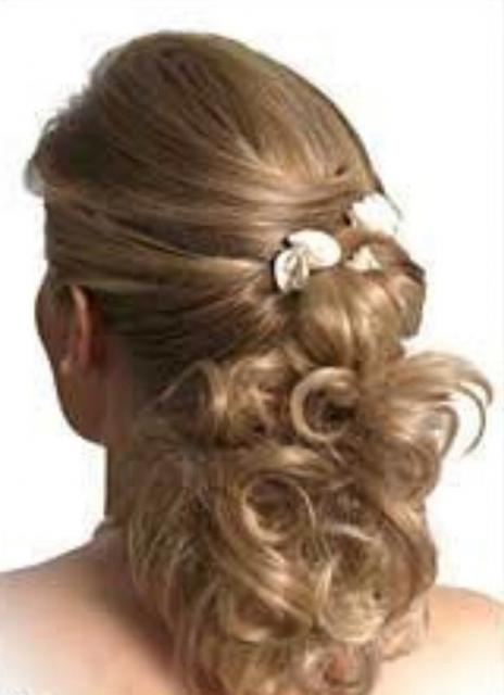 Image of Wedding Hairstyles Updos With Flower