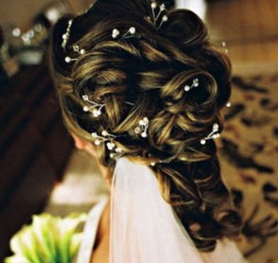 elegant bridal hairdo with small hair cips and veil.jpg