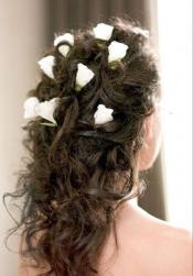 Curl wedding hairstyle with white roses.jpg