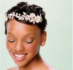 Short hair African American bride hair do picture.jpg