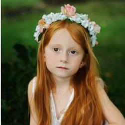 flowergirl head wreath hairstyle with white and peach flowers.jpg