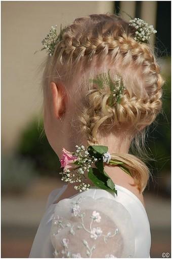 french plait hairstyles. Flowergirl French Braid