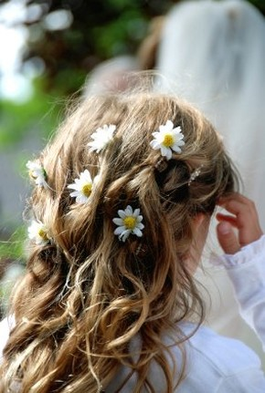 image of flower girl hairstyle with daisies.jpg