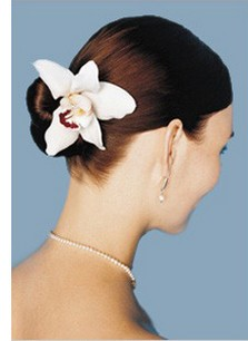 Beach Wedding Hairstyle With White Tropical Fresh flowers Hairclip.jpg