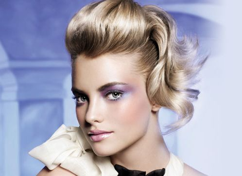 Modern bridesmaid hairstyle with pulled back on the top bang.JPG