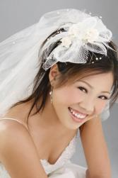 Asian trendy hairstyle for brides with cute veil.JPG