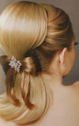 elegant bridal hair half up