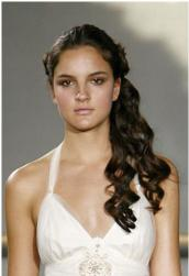 Curly halfup bride hairstyle with simple style image.JPG