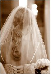simple bridal half updo with veil photo.JPG