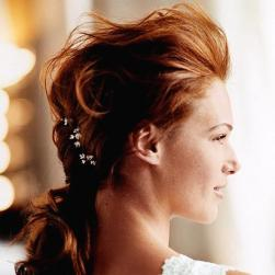 Red hair wedding hairstyle