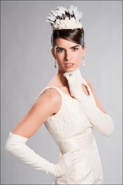 hairstyles with tiara. -white-fabric-tiara-with-