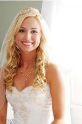 Beautiful curls blonde bride hairstyle with veil and terria pictures.JPG