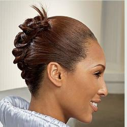 Simple black woman hairdo photo.JPG