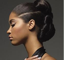 Trendy african american woman hairdo with an elegant style.JPG