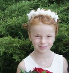 Flower girl updo hairstyle with white flowers hairclip.JPG