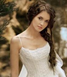 Simple wedding hairstyle with sexy messy long bridal hairdo.JPG