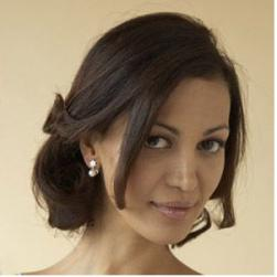 mature bridal hairstyle with a simple style and long side bangs.JPG