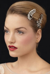 Bride hairstyle with two hairclips and geled side bang.PNG