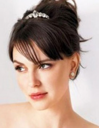Simple wedding hair updo with straight swept bangs.PNG