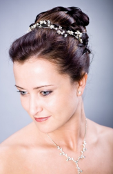 Simple bridal hairstyles with small floral hairband.PNG