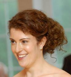 Picture of  bridesmaid hair updo with small curl.JPG