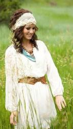 70s wedding hairstyle with wide lace headband for this perfect boho bride.JPG
