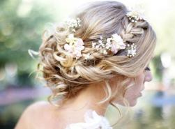 Romantic bridal hairstyles with curls and pretty fresh flowers.JPG