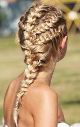 Young brides hairstyle with French braids.JPG